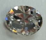 10 x 8mm Pointed Back Oval- CRYSTAL