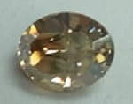 10 x 8mm Pointed Back Oval- GOLDEN SHADOW