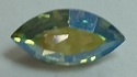 15 x 7mm Pointed Back Navette- Chrysolite AB
