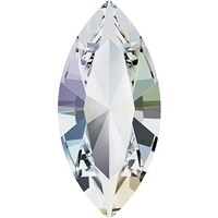 Swarovski #4228, 6 x 3mm Pointed Back Navette-Crystal AB
