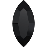Swarovski #4228, 6 x 3mm Pointed Back Navette- Jet