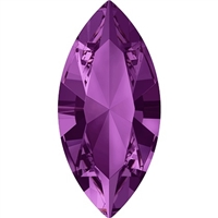 Swarovski #4228, 6 x 3mm Pointed Back Navette- Amethyst
