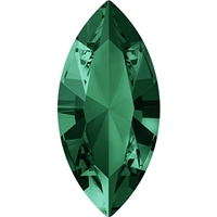 Swarovski #4228, 6 x 3mm Pointed Back Navette- Emerald