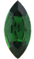 Swarovski #4228, 6 x 3mm Pointed Back Navette- Green Tourmaline - Discontinued Vintage Color