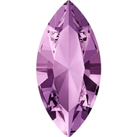 Swarovski #4228, 6 x 3mm Pointed Back Navette- Lt Amethyst