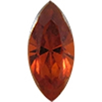 Swarovski #4228, 6 x 3mm Pointed Back Navette- Medeira Topaz - Discontinued Vintage Color
