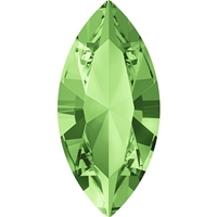 Swarovski #4228, 6 x 3mm Pointed Back Navette- Peridot