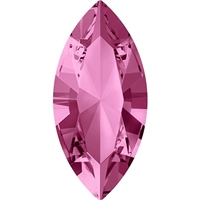 Swarovski #4228, 6 x 3mm Pointed Back Navette- Rose
