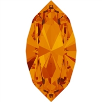 Swarovski #4228, 6 x 3mm Pointed Back Navette- Topaz