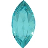 Swarovski #4206, 6 x 3mm Pointed Back Navette- Aquamarine - Discontinued Vintage Color