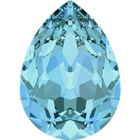 #4320 Swarovski Pear Fancy Stone- 18 X 13mm - Aquamarine