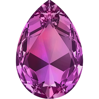 #4327 Swarovski Large Pear Fancy Stone- 30 X 22mm - Fuchsia