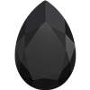 #4327 Swarovski Large Pear Fancy Stone- 30 X 22mm - Jet