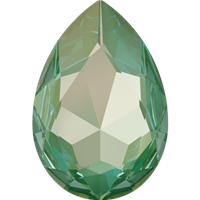 #4327 Swarovski Large Pear Fancy Stone- 30 X 22mm - Silky Sage DeLite
