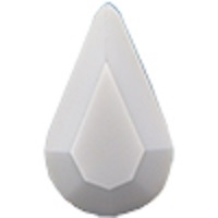 Swarovski Pointed Back Pear - 13 x 7.8mm  - Chalk White