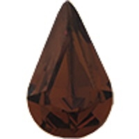 Swarovski Pointed Back Pear - 13 x 7.8mm  - Smoked Topaz