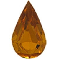 Swarovski Pointed Back Pear - 13 x 7.8mm  - Topaz