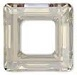 14mm Square Cosmic Ring Silver Shade CAL
