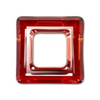 20mm Square Cosmic Ring Red Magma