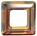 30mm Square Cosmic Ring Crystal Copper CAL