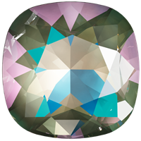 #4470 Swarovski Cushion Square Fancy Stone- 12mm - Army Green DeLite