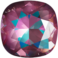 #4470 Swarovski Cushion Square Fancy Stone- 12mm - Burgundy DeLite