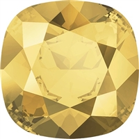 #4470 Swarovski Cushion Square Fancy Stone- 12mm - Metallic Sunshine