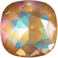 #4470 Swarovski Cushion Square Fancy Stone- 12mm - Ochre