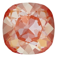#4470 Swarovski Cushion Square Fancy Stone- 12mm - Orange Glow DeLite