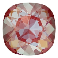 #4470 Swarovski Cushion Square Fancy Stone- 12mm - Royal Red DeLite