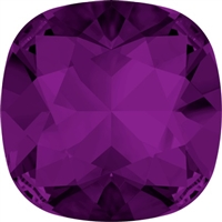 #4470 Swarovski Cushion Square Fancy Stone- 27mm - Amethyst