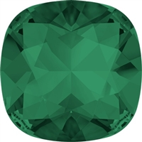 #4470 Swarovski Cushion Square Fancy Stone- 27mm - Emerald