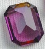 #4600 Swarovski Cushion Octagon Fancy Stone- 10 X 8mm - Unfoiled Amethyst- Discontinued Vintage