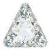 10mm Triangle Pointed Back-CRYSTAL