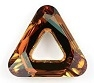 14mm Triangle Cosmic Ring Crystal Copper CAL