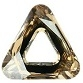 14mm Triangle Cosmic Ring Golden Shadow CAL