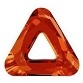 14mm Triangle Cosmic Ring Red Magma
