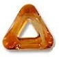 20mm Triangle Cosmic Ring Crystal Copper