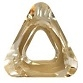 30mm Triangle Cosmic Ring Golden Shadow