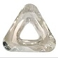 30mm Triangle Cosmic Ring Silver Shade