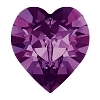 #4827 Swarovski Round Heart Fancy Stone- 28mm - Amethyst