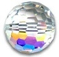 10mm Swarovski #5003 Disco Ball Bead (Multifaceted Round) Crystal AB