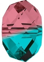 12mm Briolette Bead (Gemstone) Burgundy Blue Zircon Blend