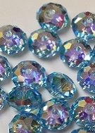 8mm Gemstone Bead Aquamarine AB 2X
