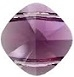 14mm Double Drilled Square Bead Amethyst