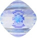 14mm Double Drilled Square Bead Crystal AB