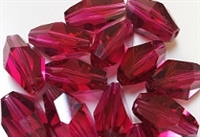 18 x 12mm Polygon Bead Ruby