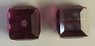10mm Cube Bead Fuchsia Satin