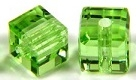 10mm Cube Bead Peridot