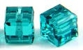 8mm Cube Bead Blue Zircon